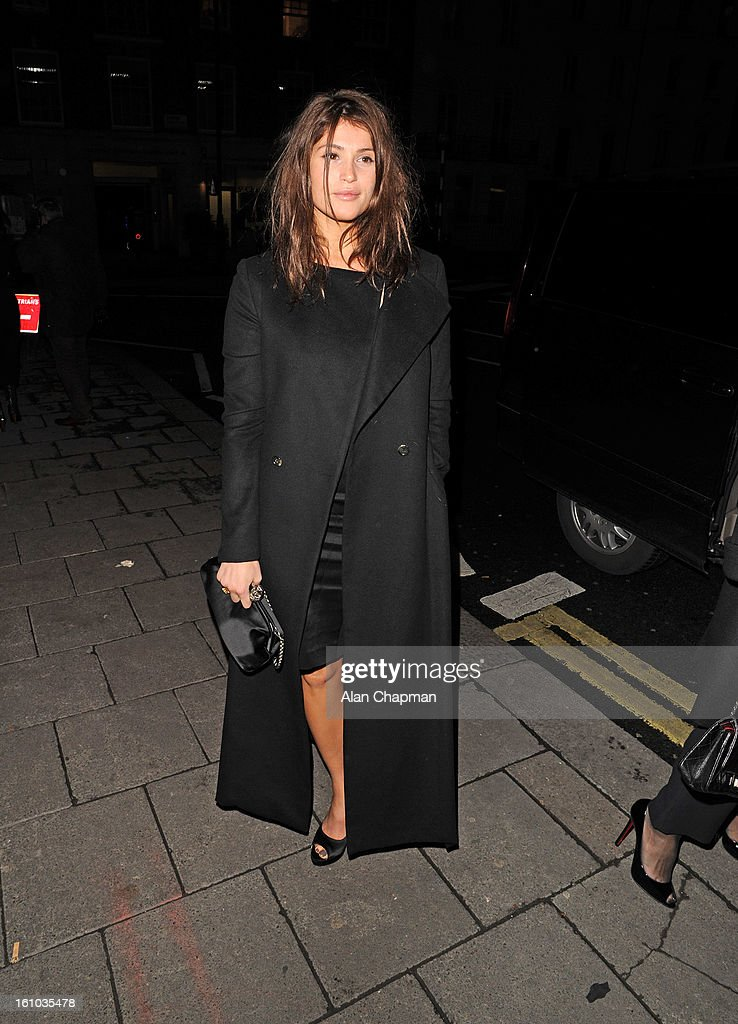 Gemma Arterton sighting at Little House Mayfair on February 8, 2013 in London, England.