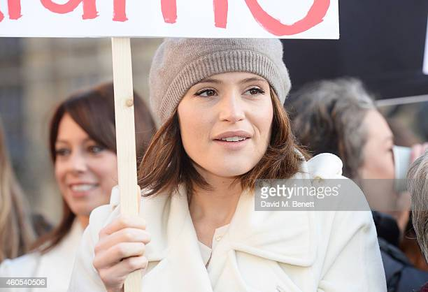Gemma Arterton star of West End musical 'Made In Dagenham' joins Grazia Magazine and UNITE to celebrate bringing about a landmark parliamentary vote...