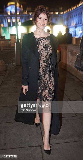 Gemma Arteton is seen at London Fashion Week Autumn/Winter 2012 on February 18 2012 in London England