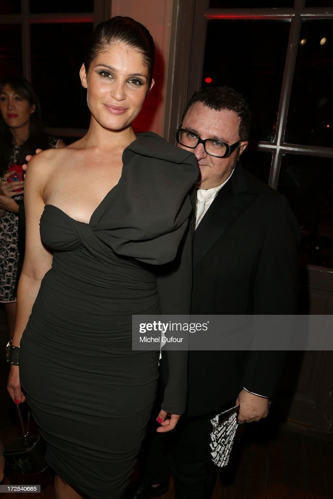Gemma Aterton and Alber Elbaz attend the 'Lancome Show by Alber Elbaz' at Le Trianon on July 2, 2013 in Paris, France.