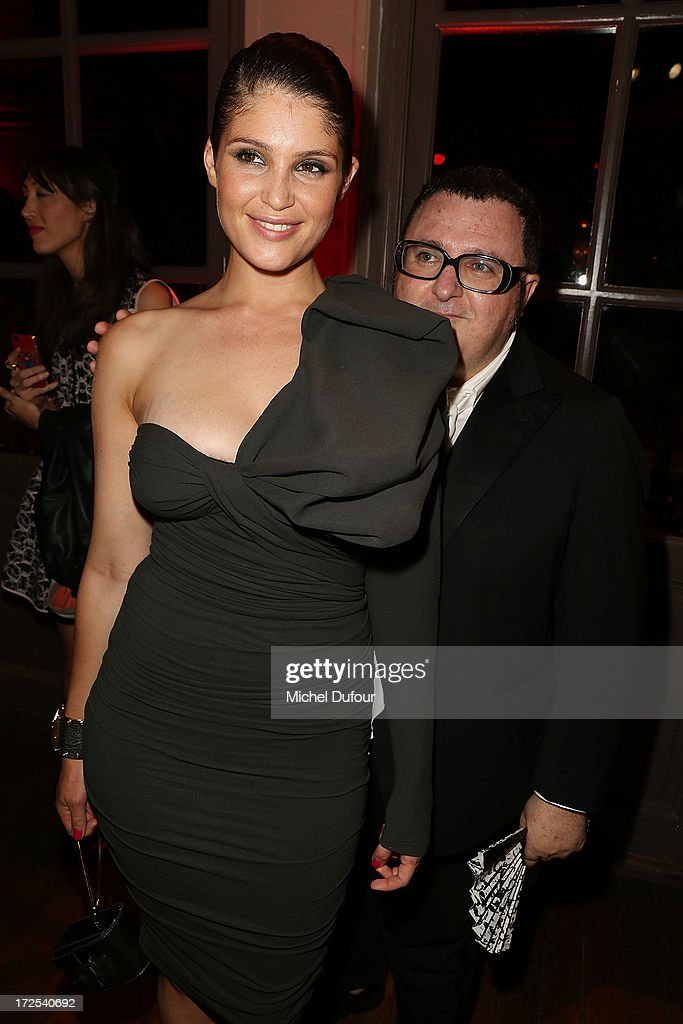 Gemma Aterton and <a gi-track='captionPersonalityLinkClicked' href=/galleries/search?phrase=Alber+Elbaz&family=editorial&specificpeople=783481 ng-click='$event.stopPropagation()'>Alber Elbaz</a> attend the 'Lancome Show by <a gi-track='captionPersonalityLinkClicked' href=/galleries/search?phrase=Alber+Elbaz&family=editorial&specificpeople=783481 ng-click='$event.stopPropagation()'>Alber Elbaz</a>' at Le Trianon on July 2, 2013 in Paris, France.