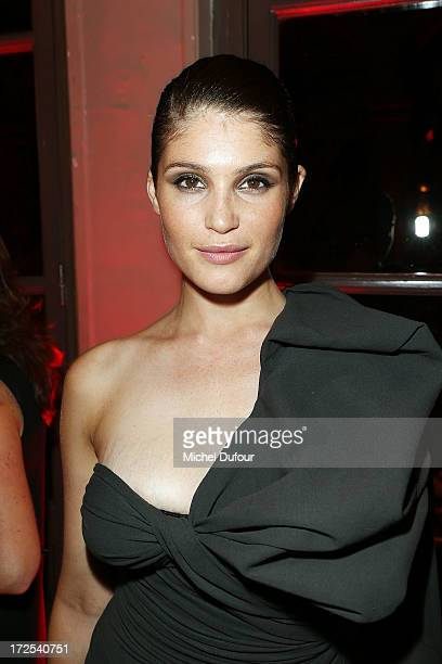 Gemma Aterton attends the 'Lancome Show by Alber Elbaz' at Le Trianon on July 2 2013 in Paris France