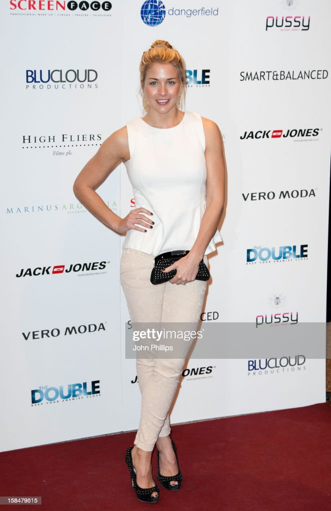 Gemma Atkinsinon attends the UK Film Premiere of 'The Double' on December 17, 2012 in London, England.