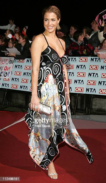 Gemma Atkinson during National Television Awards 2006 Red Carpet at Royal Albert Hall in London Great Britain