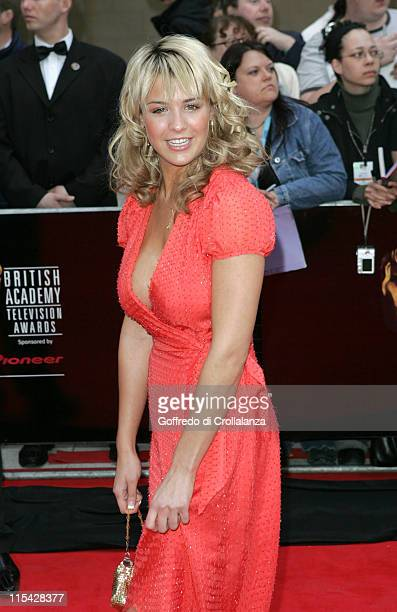 Gemma Atkinson during The 2006 British Academy Television Awards Arrivals at Grosvenor House Hotel in London Great Britain