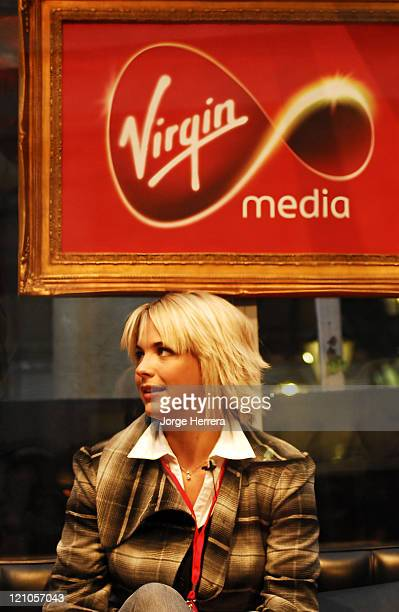 Gemma Atkinson during Virgin Media Photocall at Covent Garden in London Great Britain