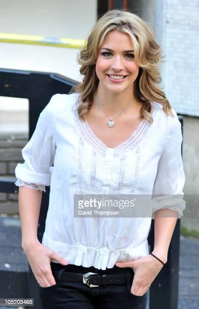 Gemma Atkinson is seen leaving ITV's studios on October 12 2010 in London England