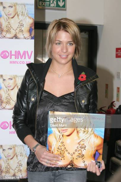 Gemma Atkinson signing her 2007 calendar during Gemma Atkinson Signs her 2007 Calendar at HMV in Liverpool at HMV in Liverpool Merseyside Great...