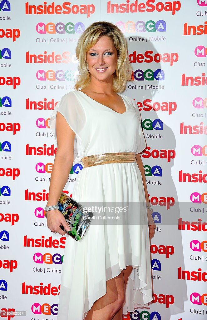 <a gi-track='captionPersonalityLinkClicked' href=/galleries/search?phrase=Gemma+Bissix&family=editorial&specificpeople=3843539 ng-click='$event.stopPropagation()'>Gemma Bissix</a> attends the Inside Soap Awards, at Ministry Of Sound on October 21, 2013 in London, England.