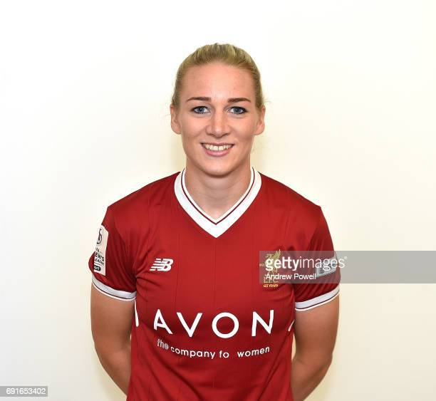 Gemma Bonner of Liverpool Ladies during a Photocall at Select Security Stadium on June 2 2017 in Widnes England
