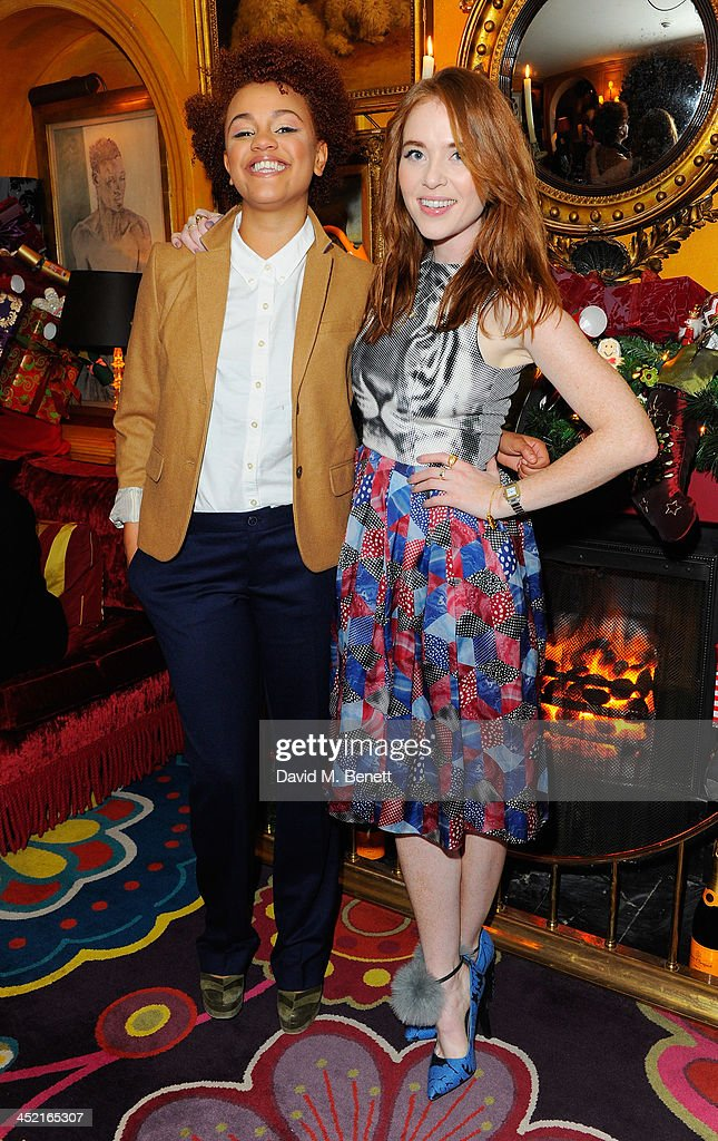 Gemma Cairney and Angela Scanlon attend Veuve Clicquot Style Party at Annabel's on November 26, 2013 in London, England.