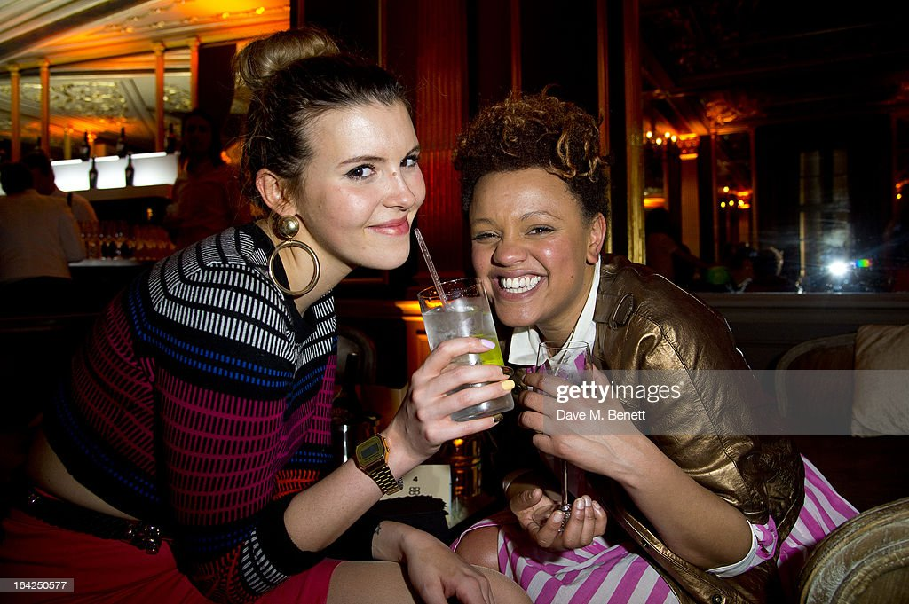 Gemma Cairney (R) attends the Baileys Spirited Women party at Cafe Royal on March 21, 2013 in London, England.