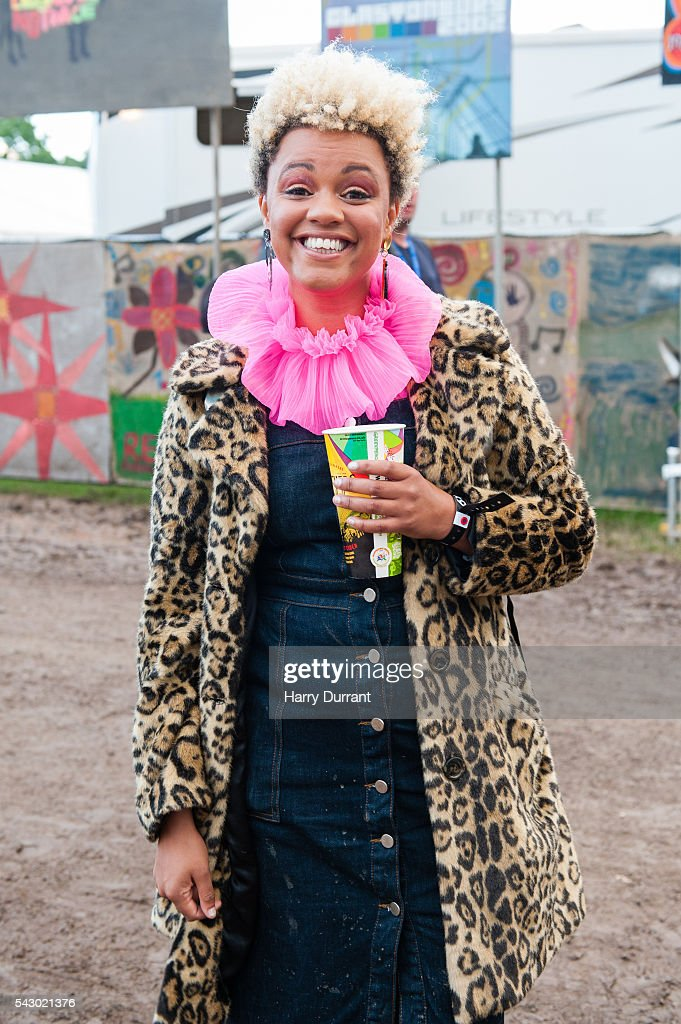 Gemma Cairney attends the Glastonbury Festival 2016 at Worthy Farm, Pilton on June 25, 2016 in Glastonbury, England.