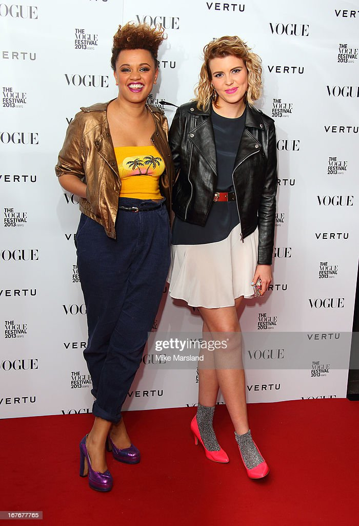 <a gi-track='captionPersonalityLinkClicked' href=/galleries/search?phrase=Gemma+Cairney&family=editorial&specificpeople=6757226 ng-click='$event.stopPropagation()'>Gemma Cairney</a> (L) attends the opening party for The Vogue Festival in association with Vertu at Southbank Centre on April 27, 2013 in London, England.