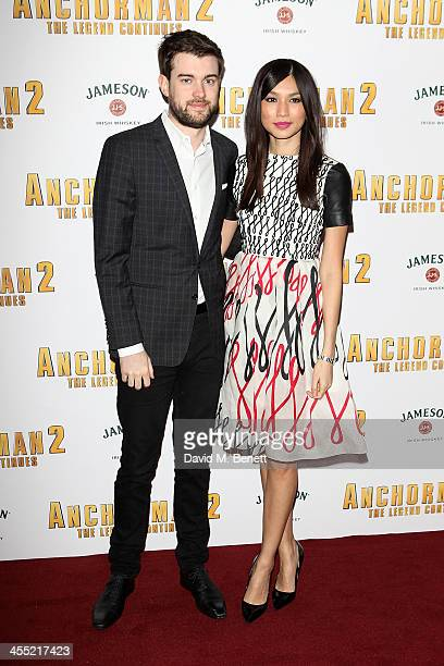 Gemma Chan and Jack Whitehall attend the UK premiere of 'Anchorman 2 The Legend Continues' at the Vue West End on December 11 2013 in London England