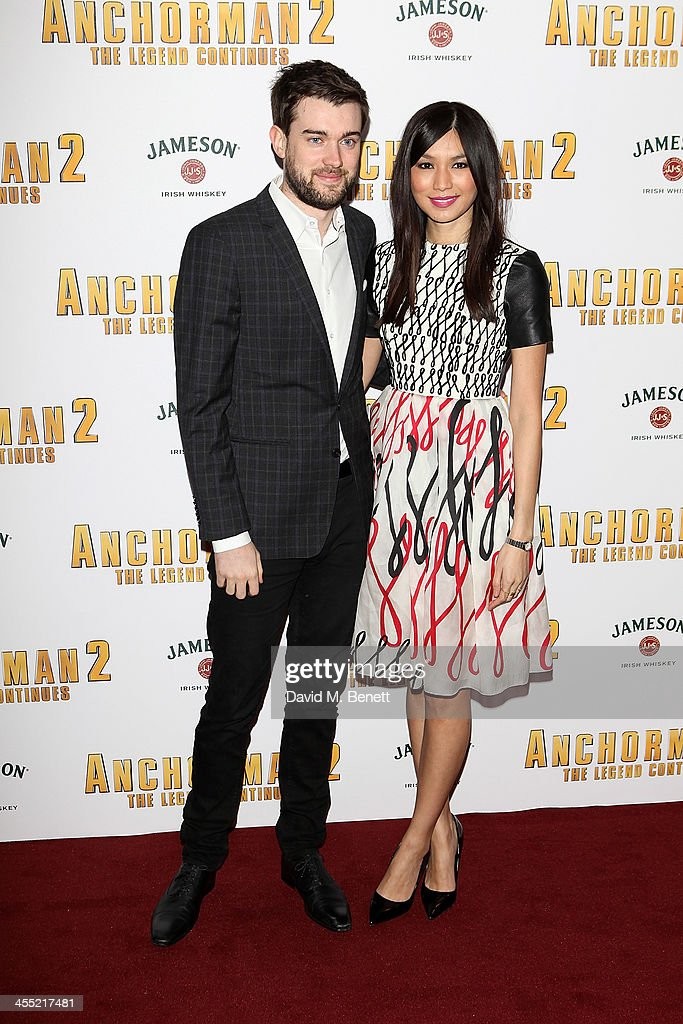 Gemma Chan and Jack Whitehall attend the UK premiere of 'Anchorman 2: The Legend Continues' at the Vue West End on December 11, 2013 in London, England.