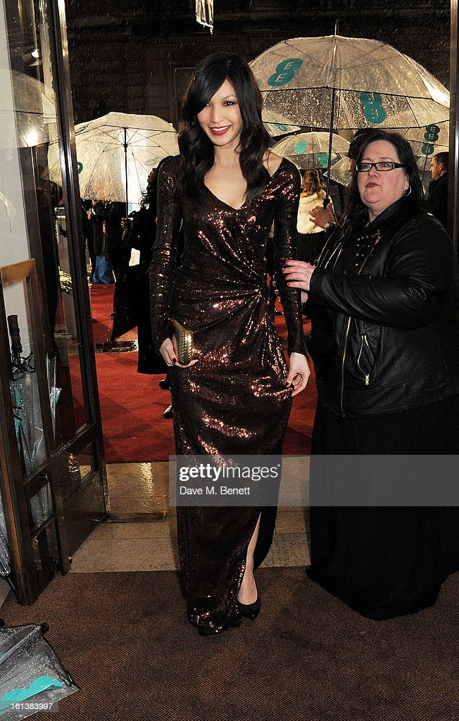 Gemma Chan arrives at the EE British Academy Film Awards at the Royal Opera House on February 10, 2013 in London, England.
