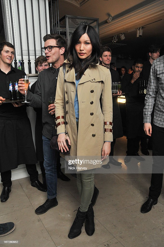 Gemma Chan attends Burberry Live at 121 Regent Street at Burberry on April 23, 2013 in London, England.