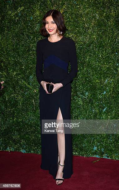 Gemma Chan attends the 60th London Evening Standard Theatre Awards at London Palladium on November 30 2014 in London England