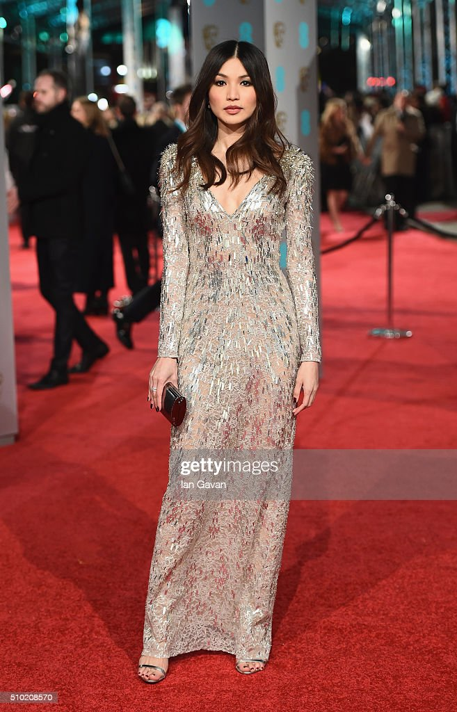 Gemma Chan attends the EE British Academy Film Awards at the Royal Opera House on February 14 2016 in London England