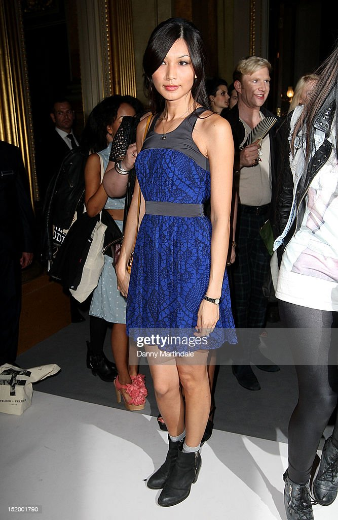 Gemma Chan attends the front row for the PPQ show on day 1 of London Fashion Week Spring/Summer 2013, at Goldsmiths Hall on September 14, 2012 in London, England.