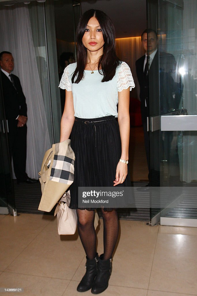 Gemma Chan attends The HUB Silent Auction Afternoon Tea at The Sanderson Hotel on May 2, 2012 in London, England.