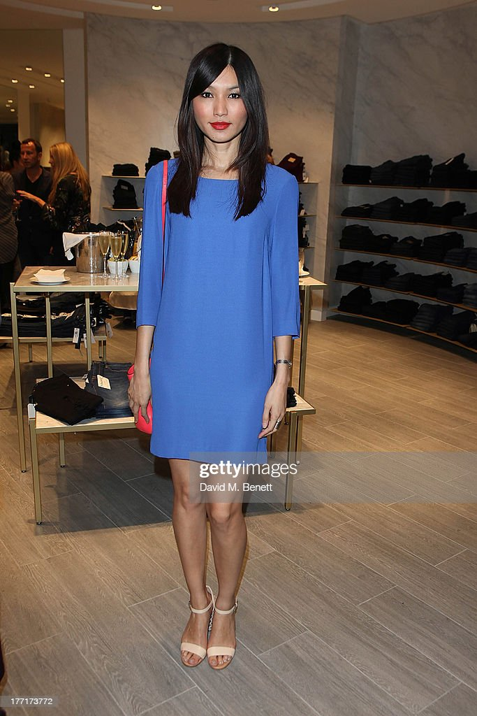 Gemma Chan attends the Trilogy flagship store launch party on August 21, 2013 in London, United Kingdom.