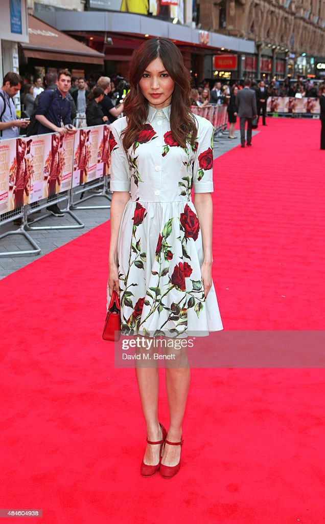 Gemma Chan attends the World Premiere of 'The Bad Education Movie' at Vue West End on August 20, 2015 in London, England.