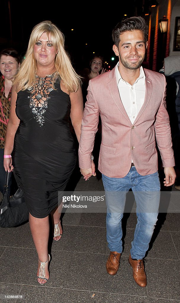 Gemma Collins and Charlie King sighting on April 13, 2012 in London, England.