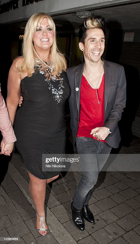 Gemma Collins and <a gi-track='captionPersonalityLinkClicked' href=/galleries/search?phrase=Russell+Kane&family=editorial&specificpeople=6213345 ng-click='$event.stopPropagation()'>Russell Kane</a> sighting on April 13, 2012 in London, England.