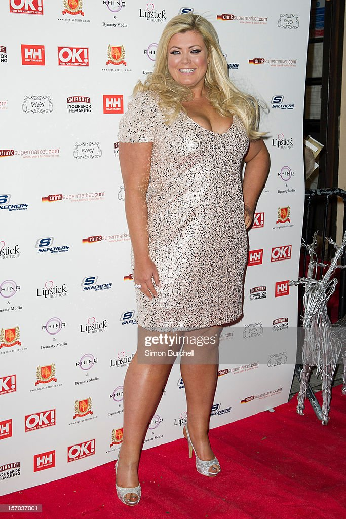 Gemma Collins attends the OK! Magazine Christmas Party at Sway on November 27, 2012 in London, England.