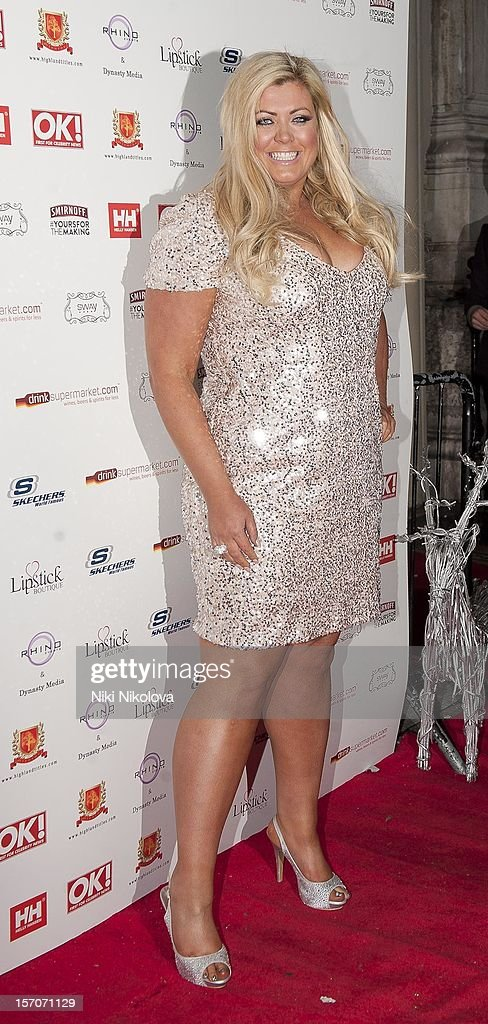 Gemma Collins attends the OK! Magazine Christmas Party on November 27, 2012 in London, England.