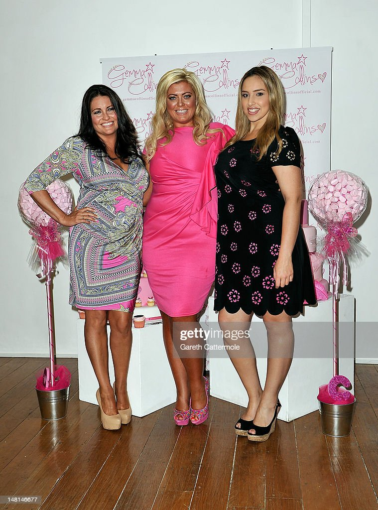 Gemma Collins (C) launches her plus-size clothing range at The Worx on July 11, 2012 in London, England.
