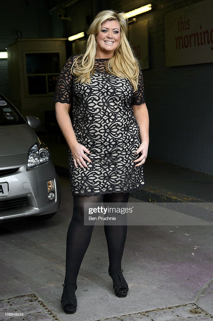 Gemma Collins sighted departing ITV Studios on January 4, 2013 in London, England.