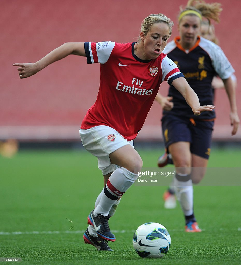 Gemma Davison of Arsenal during the FA Women's Super League match between Arsenal Ladies FC and Liverpool Ladies FC at Emirates Stadium on May 07, 2013 in London, England.