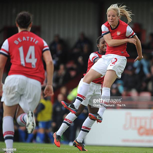 Gemma Davison of Arsenal Ladies celebrates her equalising goal during the The FA Womens Super League match between Arsenal Ladies and Birmingham City...