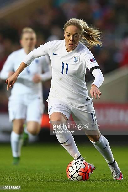 Gemma Davison of England during the UEFA Women's Euro 2017 Qualifier match between England and Bosnia and Herzegovina at Ashton Gate on November 29...