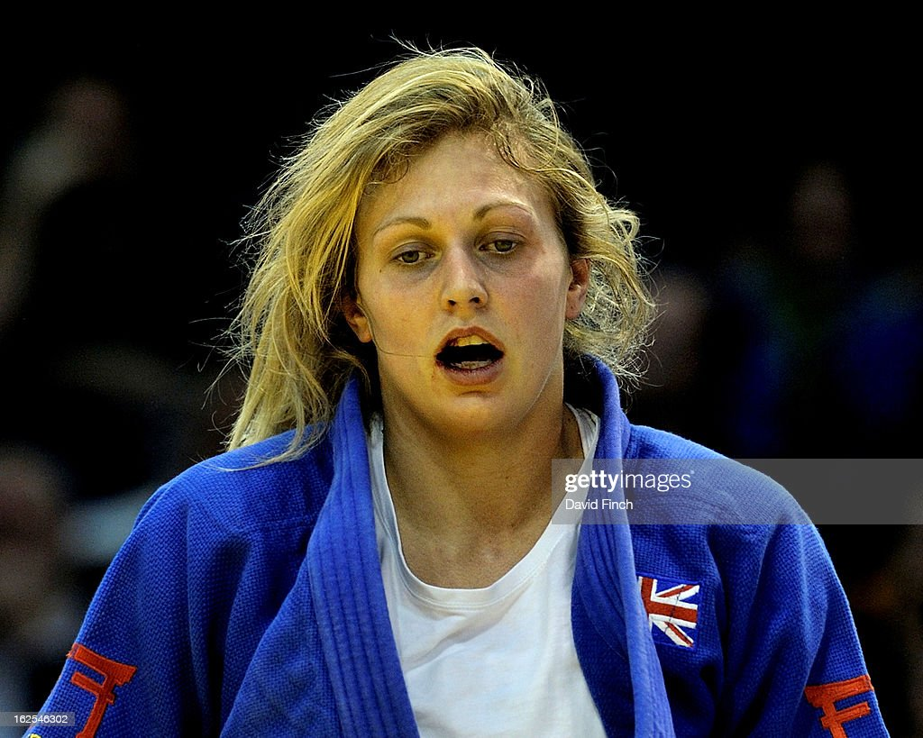 <a gi-track='captionPersonalityLinkClicked' href=/galleries/search?phrase=Gemma+Gibbons&family=editorial&specificpeople=7541729 ng-click='$event.stopPropagation()'>Gemma Gibbons</a> of Great Britain during the u78kgs final when she won the gold medal during Day 2 of the Dusseldorf Grand Prix at the Mitsubishi Electric on February 24, 2013 in Halle, Dusseldorf, Germany.