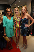 Gemma Kahng Alex McCord and Maggie Rizer attends the opening of the Leica Boutique at the Willoughby's Imaging Center on June 8 2010 in New York City