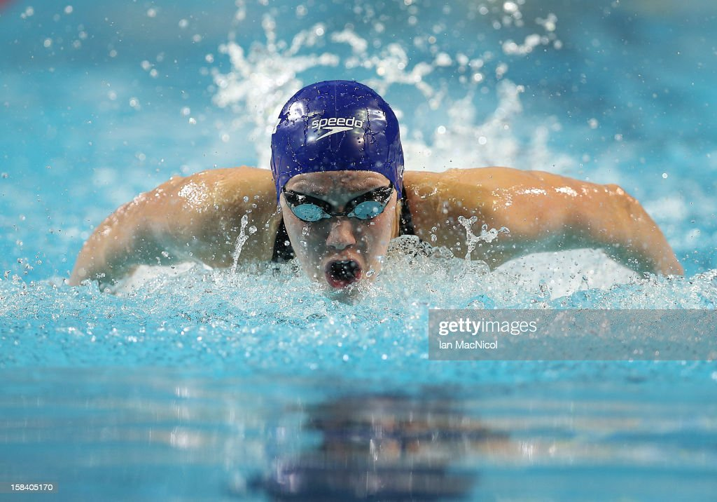 Gemma Lowe of Great Britain competes in the Women's 100m Butterfly semi final during day four of the 11th FINA Short Course World Championships at the Sinan Erdem Dome on December 15, 2012 in Istanbul, Turkey.