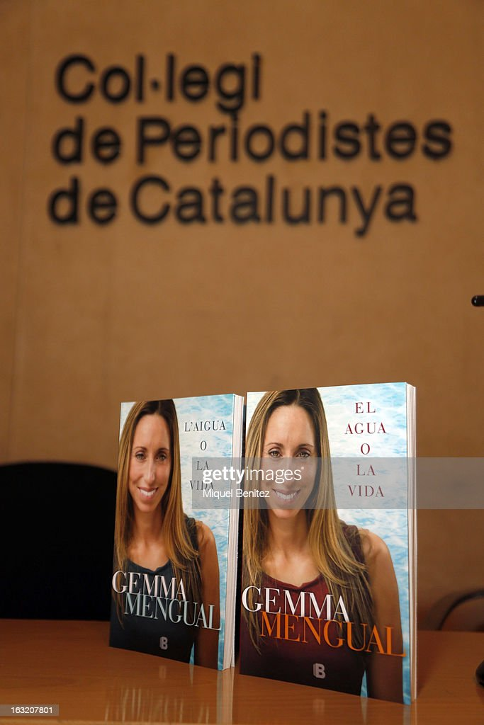 Gemma Mengual's book 'El Agua o La Vida', 'The water or The Life' on March 6, 2013 in Barcelona, Spain.