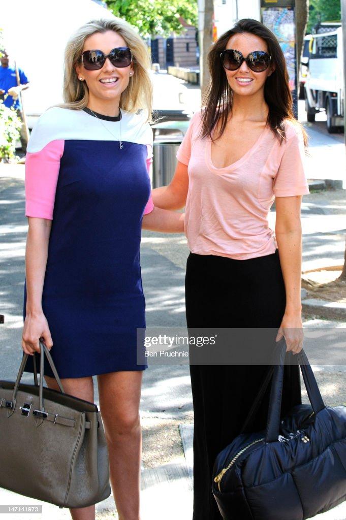 Gemma Merna and Jennifer Metcalfe Sightings In London - June 26, 2012