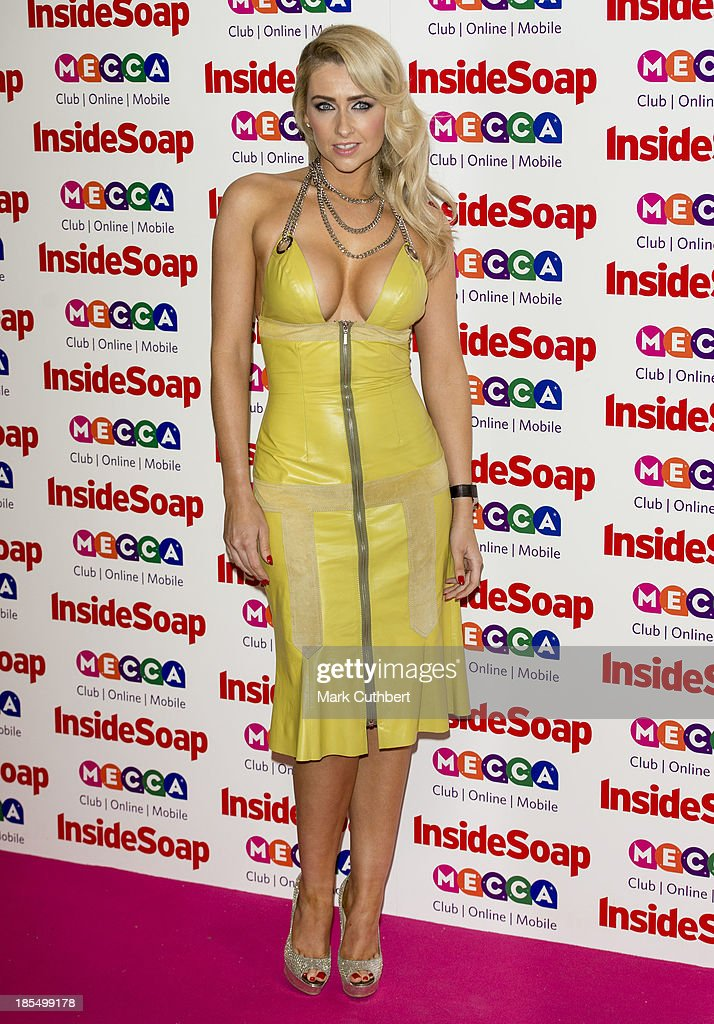 <a gi-track='captionPersonalityLinkClicked' href=/galleries/search?phrase=Gemma+Merna&family=editorial&specificpeople=3983471 ng-click='$event.stopPropagation()'>Gemma Merna</a> attends the Inside Soap Awards at Ministry Of Sound on October 21, 2013 in London, England.