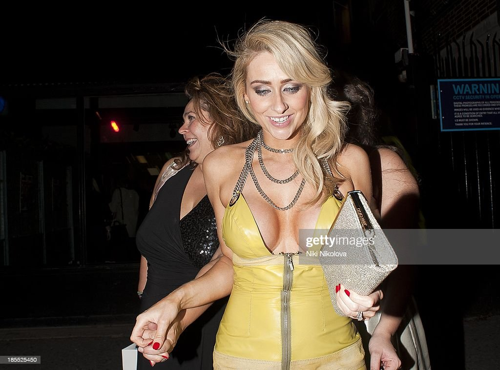 <a gi-track='captionPersonalityLinkClicked' href=/galleries/search?phrase=Gemma+Merna&family=editorial&specificpeople=3983471 ng-click='$event.stopPropagation()'>Gemma Merna</a> is sighted leaving the Minestry of Sound, Elephant and Castle on October 21, 2013 in London, England.