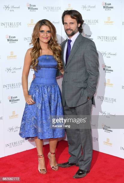 Gemma Oaten and Scott Walker attend the World Premiere of 'Interlude In Prague' at Odeon Leicester Square on May 11 2017 in London England