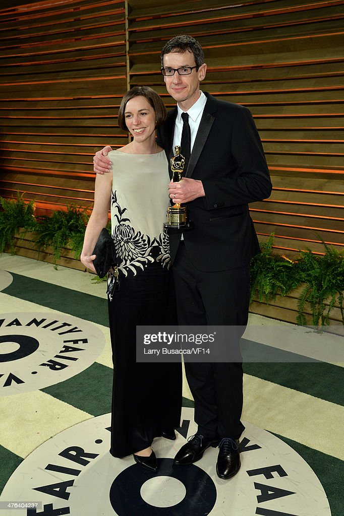 Gemma Price (L) and composer Steven Price attend the 2014 Vanity Fair Oscar Party Hosted By Graydon Carter on March 2, 2014 in West Hollywood, California.