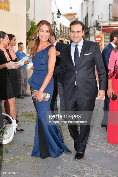 Gemma Ruiz Cuadrado and Jose Luis Diaz Fernandez attend the wedding of Veronica Cuevas and Manuel Del Pino on June 21 2014 in Cordoba Spain
