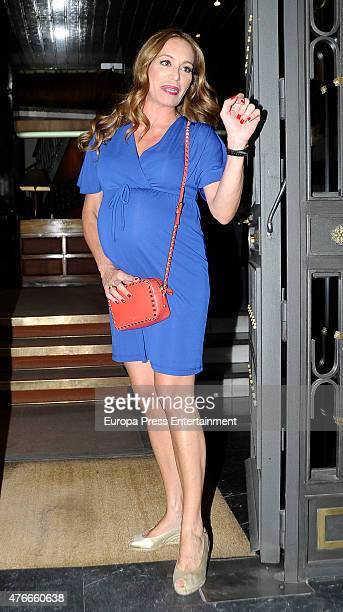 Gemma RuizCuadrado attends her babyshower party on June 10 2015 in Madrid Spain