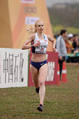Gemma Steel compete at the Senior Race Women at the IAAF World Cross Country Championships Guiyang 2015 on March 28 at a horse racing circuit on...