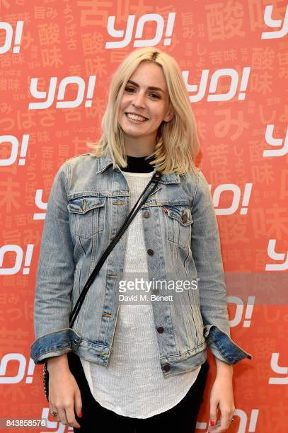 Gemma Styles attends opening of new YO sushi site on Tottenham Court Road as the brand celebrates its 20th anniversary on September 7 2017 in London...